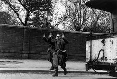 Leipzig, April 18th. 1945. German soldiers surrender to the American troops//Robert Capa