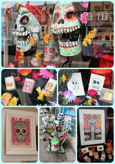 Day of the Dead window display