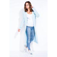 Cardigan de dama in trend lung blue