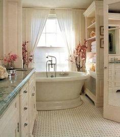 pretty bathroom and tub!