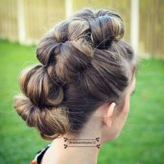 Genie Ponytail Bun Hairstyles Pinterest Ponytail