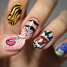 This series deals with many common and very painful conditions, which can spoil the appearance of your nails. SPLIT NAILS What is it about ? Nails are composed of several… Continue Reading → Funky Nail Art, Funky Nails, Trendy Nail Art, Nail Art Diy, Cool Nail Art, Diy Nails, Cute Nails, Ongles Pop Art, Ongles Funky