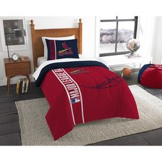 Use this Exclusive coupon code: PINFIVE to receive an additional 5% off the St. Louis Cardinals MLB Twin Comforter Set at SportsFansPlus.com