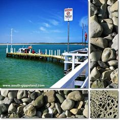 pictures of Inverloch jetty, rocks and rock textures