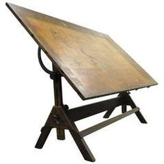 Vintage drafting table by hamilton vintage drafting table writing view this item and discover similar industrial and work tables for sale at impressively large antique oak drafting table the piece features a sturdy malvernweather Images