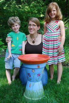 The Princess and The Frog Blog: A birdbath by Kathleen
