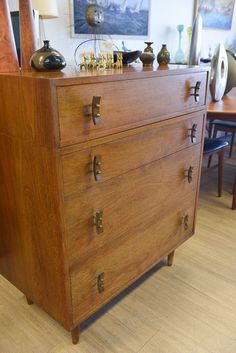 Mid Century Stanley Young for Glenn of California 4 Drawer Chest