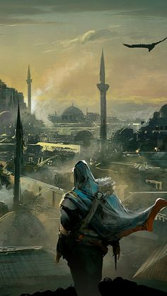 Just perfect. Assassins Creed. Im afraid that Altair ibn al ahad wouldn't be so happy with how the world is today.. neither of them from that time..
