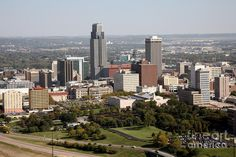 omaha nebraska | Skyline Of Omaha Nebraska Photograph