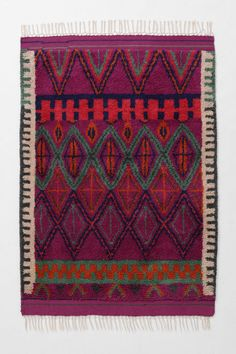 Agadir Twists Rug from Anthropologie - to put in bar/library room diagonally under reading chairs Boho, Bohemian Rug, Bohemian Style, Textures Patterns, Print Patterns, Anthropologie Rug, Funky Home Decor, Magic Carpet, Home Rugs