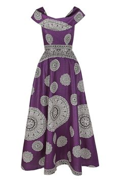 Image of Ruby Maxi Dress (Fusion Purple) - simply impactful African Inspired Fashion, African Print Fashion, Africa Fashion, Ethnic Fashion, Look Fashion, Fashion Styles, African Print Skirt, African Print Dresses, African Fashion Dresses