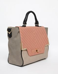Enlarge New Look Quilted Carly Winged Satchel