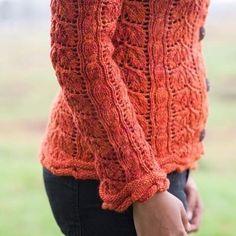 September Spirit - a gorgeous lace cardi with unique trim. Knit your own: http://ift.tt/1TeRtT0 - #knitting #knittersofig #knittersofinstagram #knittersoftheworld #knittersofravelry #knitstagram #laceknitting knittingmaine #strikk #stricken #strikking #instastrikk  #instaknit #knittersgonnaknit #cables  #instaknitters #yarnaddict #yarnstagram #yarn #kristentendyke #caterpillarknits