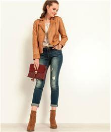 9d8cf1e8abff GDM - Veste femme style perfecto en cuir