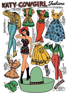 Just about the best thing ever... vintage Western paper doll!