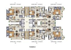 9 Residential Tower Floor Plan Ideas Floor Plans Residential Towers Apartment Floor Plans
