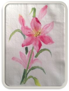 Fabric Painted Lily