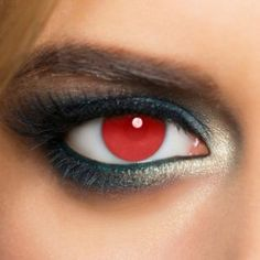 Red Blind Halloween Coloured Contact Lenses (Daily)
