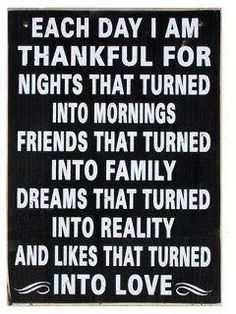 Each day I'm thankful...