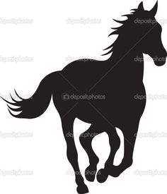 Bilderesultat for silhouette horse head