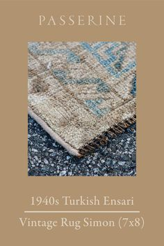 This lovely medium-sized ensari vintage rug features an all-over motif that is often likened to elephant's feet. A common motif in Turkomen-origin rugs, this vintage rug repeats it in a lighter, softer pattern than the typical red and black rendition. This rug has been treated with an antique wash, softening its tones to appeal to the palette of any modern-day home. The 7 x 8 size of this beige and blue vintage rug offers options to move it to several different locations in your home. Interior Design Photos, Beautiful Interior Design, Vintage Rugs, Vintage Items, Large Rugs, Rug Features, Or Antique, Persian Rug, Colorful Rugs