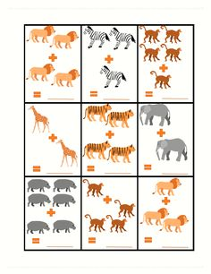 Cute clip art, easy math, and just general zoo animal fun! Includes tracing, fun facts, and writing. Included in the FREE Safari Animal Worksheet Writing and Math Pack for PreK! Zoo Activities Preschool, Zoo Animal Activities, Animal Worksheets, Writing Worksheets, Feelings Preschool, Preschool Farm, Kindergarten Math, Preschool Crafts, Simple Math