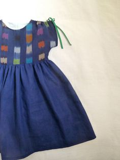 Ikat and Linen Dress by HarrietsHaberdashery on Etsy