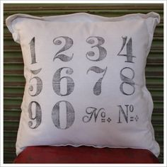 Numbers Cotton Cushion Mulbury