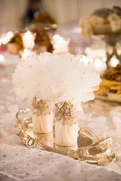 wedding reception decor idea; photo: Lisa Boggs Photography