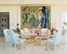 1960s tapestry by Marc Saint-Saens | Albert Hadley | Elle Decor...