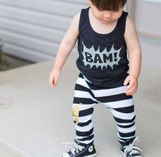 BAM Toddler Tank Top by Wee Monster.  www.weemonster.net