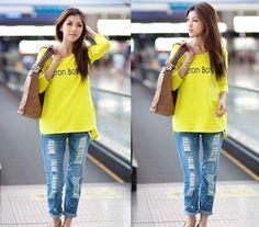 CT05705 Long sleeve girls long T-shirt for women