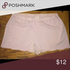 Light Pinky/Purple Petal Trimmed Shorts Flowy pastel pink/purple shorts! Frenchi Shorts