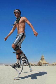 Burning Man (2012) Powerise jumpers and DiscoLab Shorts by BetaBrand rocks on La Playa. Was my first Burning Man!  Instagram me mdferreira