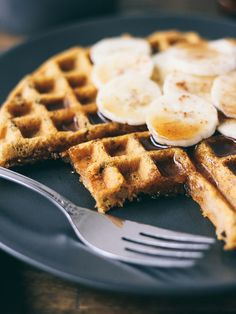 Sweet potato waffles with Cacao Nibs byohladycakes #Waffles #Sweet_Potato #GF
