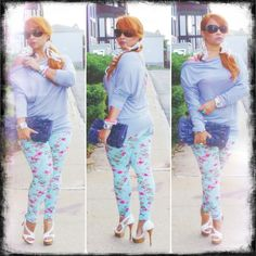 Stylo of the Week * Minty Floral Leggings * Outfit