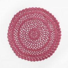 Adairs Kids Crochet Round Rug Pink, kids rugs, crochet rugs