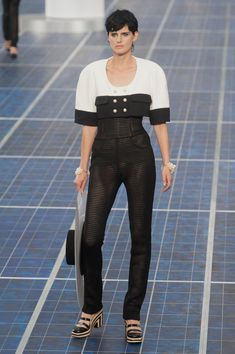 Chanel at Paris Fashion Week Spring 2013 - StyleBistro  Something about this caught my eye, not sure what