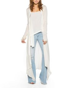 Another great find on #zulily! Oatmeal Estefania Hooded Open Duster #zulilyfinds