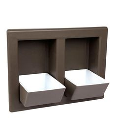 Love this Cappuccino Wall-Mount Double Pet Water Bowl Set by Designer Pet Eatery on #zulily! #zulilyfinds