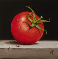 """Tomato No. 2"" - Original Fine Art for Sale - © Jane Palmer"