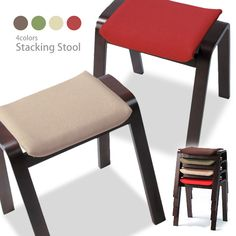 marusiyou | Rakuten Global Market: Wooden upholstered Stackable chair Nordic simple door, Ottomans, Dining chairs