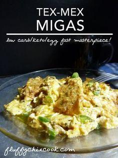 Low carb keto, and Egg Fast friendly Migas are a chilihead dream come true. Hello Tex-Mex lovin!