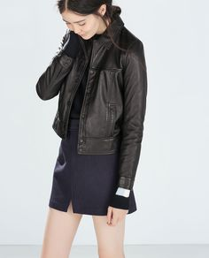 LEATHER JACKET-Trf-Outerwear-WOMAN | ZARA United States