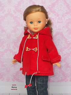 Parka, Nancy Doll, Wellie Wishers, Vintage Dolls, Baby Dolls, Doll Clothes, Couture, Sewing, Coat