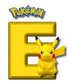Abecedario de Pikachu de Pokémon. Pikachu Alphabet. Festa Pokemon Go, 150 Pokemon, Pokemon Craft, Pokemon Party, Pokemon Birthday, Pikachu Drawing, Pikachu Art, Cute Pikachu, Brother Birthday