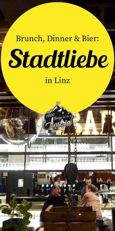 Die Stadtliebe in #Linz ist eines der beliebtesten Lokale der Einheimischen. Neben dem Brunch am Wochenende gibts hier regionale Gerichte für Vegetarier und Fleischliebhaber. Und auch die große Auswahl an #CraftBeer darf man nicht vergessen. Lokal, Dinner, Austria, Food, Linz, Brunch Ideas, Vegetarian, Road Trip Destinations, Travel Inspiration