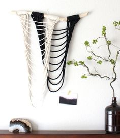 Macrame Wall Hanging Pure Air no.2 by HIMO ART One of a by HIMOART