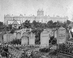 Leeds workhouse, (now Thackeray Medical Museum) viewed from Beckett Rd Cemetery - conveniently across the road. My granny was born here Jenny Thackeray was her name. London History, British History, Tudor History, South Yorkshire, Yorkshire England, Old Pictures, Old Photos, Leeds City, Leeds Pubs