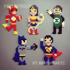 Justice League - DC original design perler beads by HarmonArt2